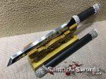 Tanto Knife 1060 Carbon Steel With Ebony Wood Saya
