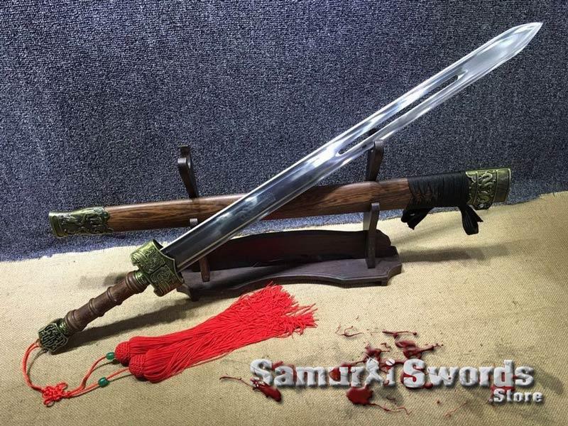 chinese jian sword 1060 carbon steel with rosewood saya chinese jian sword 1060 carbon steel with rosewood saya