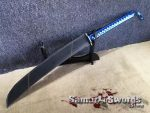 Naginata Blade T10 Clay Tempered Steel With Synthetic Leather Holsters Saya