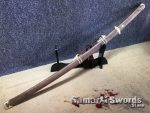 Tachi Sword T10 Clay Tempered Steel With Rosewood Saya