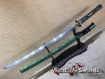 Katana Blade 1060 Carbon Steel with Full Ray Skin Buffalo Horn Saya