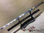 Ninjato T10 Clay Tempered Steel with Gold Dragon Inscription Saya