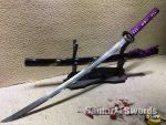 Samurai Katana T10 Folded Clay Tempered Steel with Hadori Polish