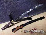 T10 Clay Tempered Steel Wakizashi sword