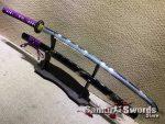T10 Folded Clay Tempered Samurai Katana with Hadori Polish and double groove
