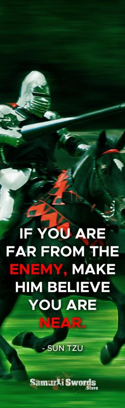 If you are far from the enemy