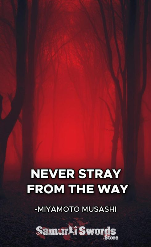 Never stray from the Way. - Miyamoto Musashi