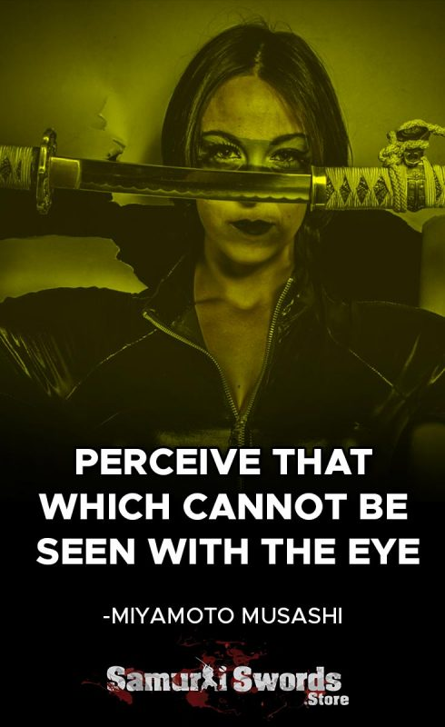 Perceive that which cannot be seen with the eye. - Miyamoto Musashi