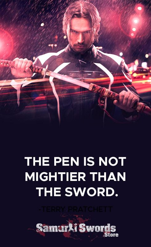 The Pen Is NOT Mightier Than The Sword.