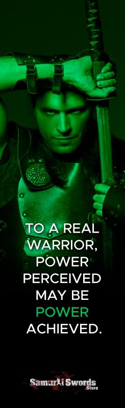 To a real warrior