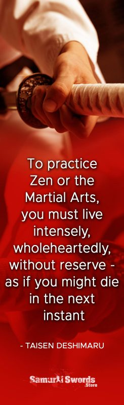 To practice Zen or the Martial Arts