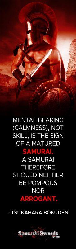 Mental bearing (calmness)