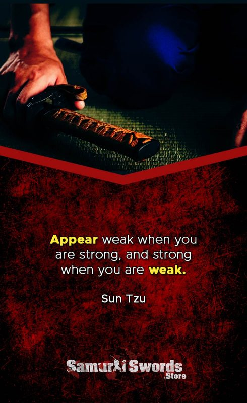 Appear weak when you are strong