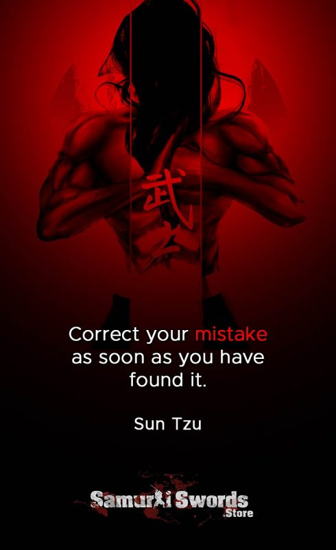 Correct your mistake as soon as you have found it. - Sun Tzu