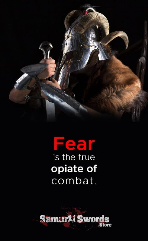 Fear is the true opiate of combat. - Unknown