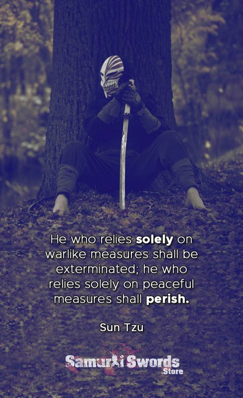 He who relies solely on warlike measures shall be exterminated; he who relies solely on peaceful measures shall perish. - Sun Tzu