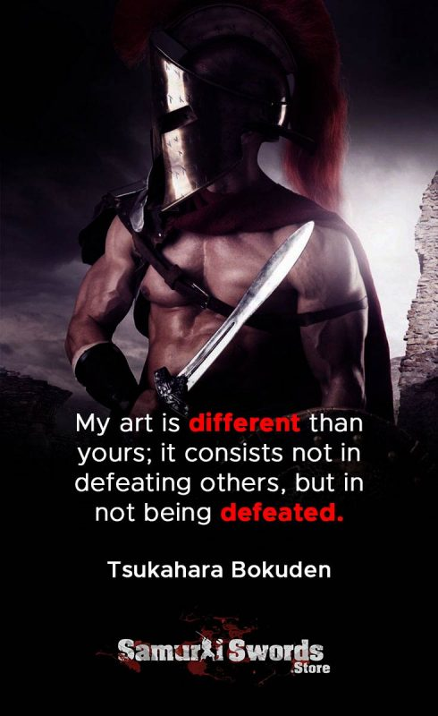 My art is different than yours; it consists not in defeating others
