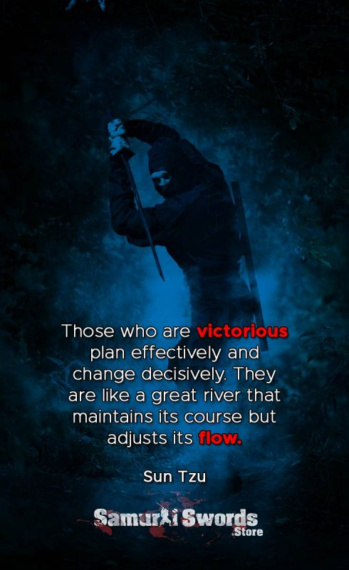 Those who are victorious plan effectively and change decisively. They are like a great river that maintains its course but adjusts its flow. - Sun Tzu