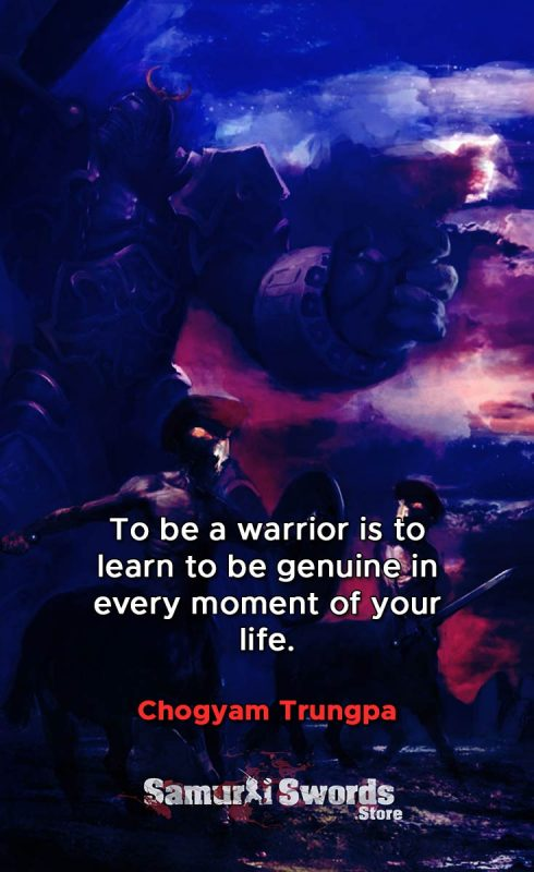 To be a warrior is to learn to be genuine in every moment of your life. - Chogyam Trungpa