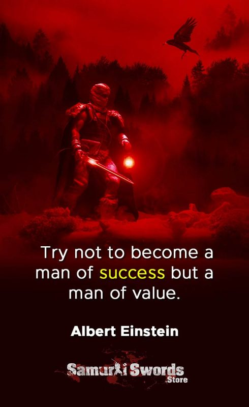 Try not to become a man of success but a man of value. - Albert Einstein